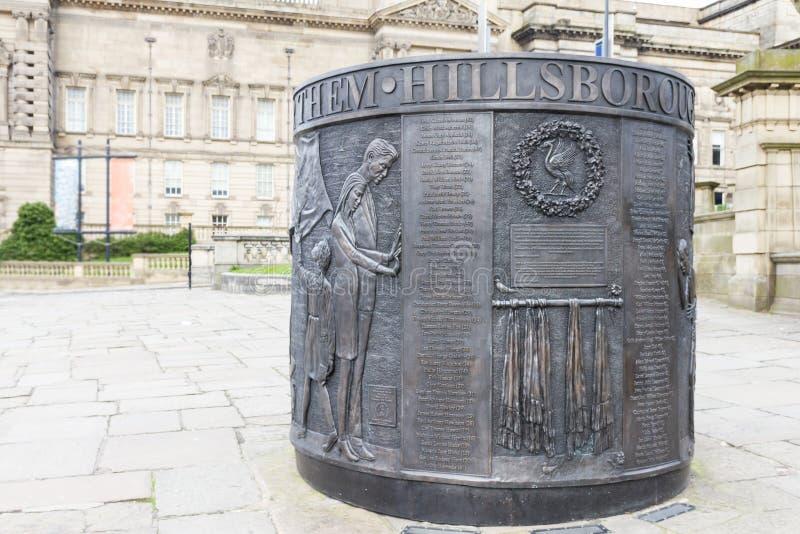 Monumento conmemorativo a la tragedia de Hillsborough imágenes de archivo libres de regalías