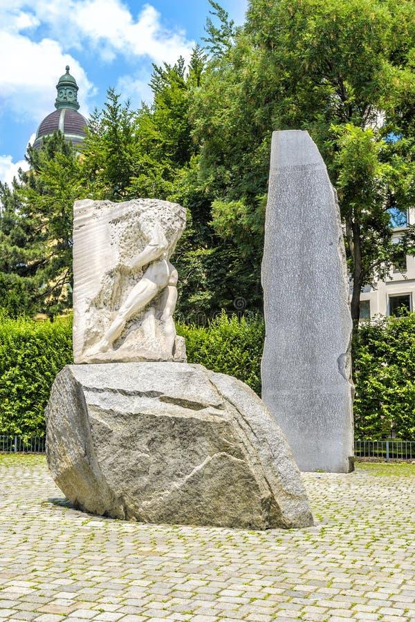 Monumento contra la guerra y el fascismo, Viena, Austria fotos de archivo libres de regalías