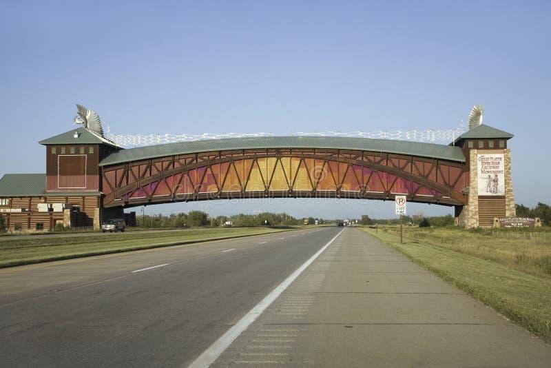 Monumento da arcada da estrada de Great Platte River fotos de stock