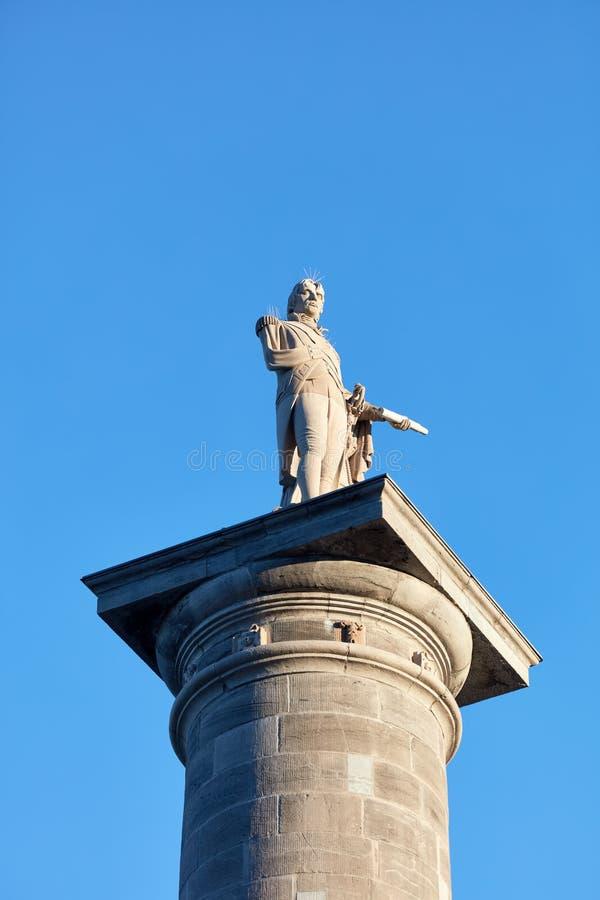 Monumento da coluna de Nelson franc?s do mission?rio em Montreal, Quebeque, Canad? imagens de stock