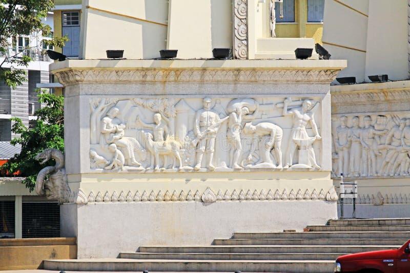 Monumento da democracia, Banguecoque, Tailândia fotografia de stock