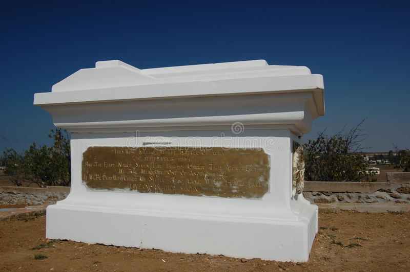 Monumento da guerra crimeana no campo de Alma foto de stock royalty free