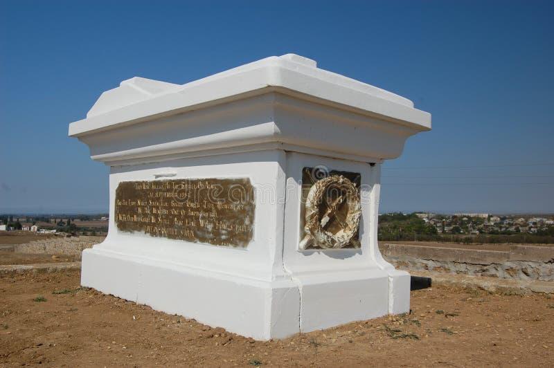 Monumento da guerra crimeana no campo de Alma foto de stock
