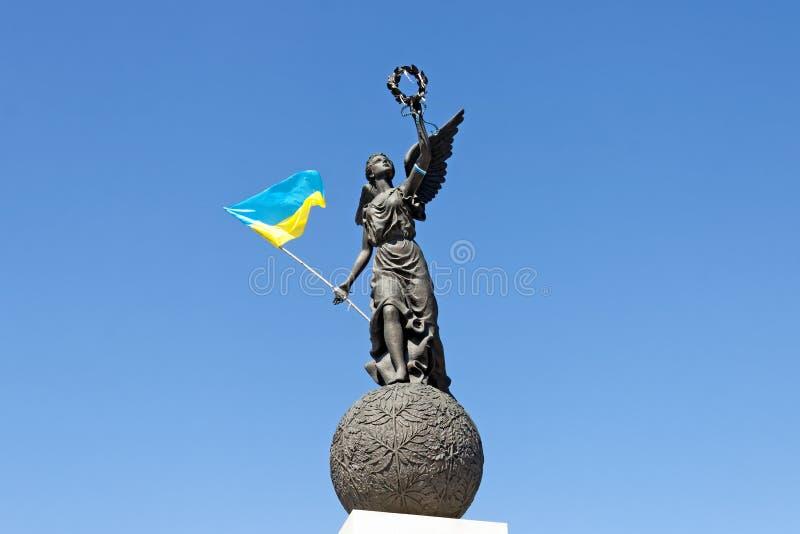 Monumento da independência de Ucrânia em Kharkiv imagem de stock