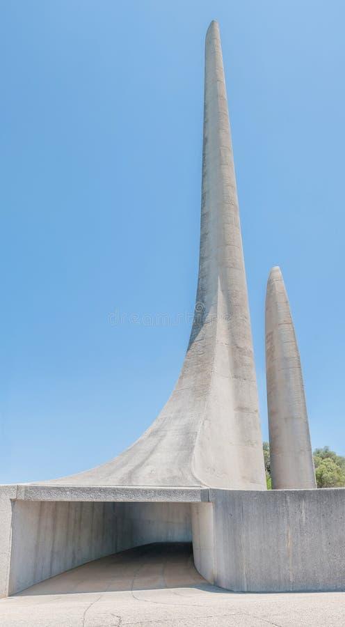 Monumento da língua do holandês sul-africano em Paarl fotos de stock