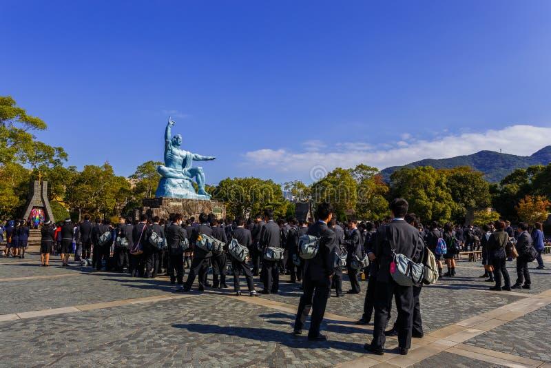 Monumento da paz de Nagasaki foto de stock