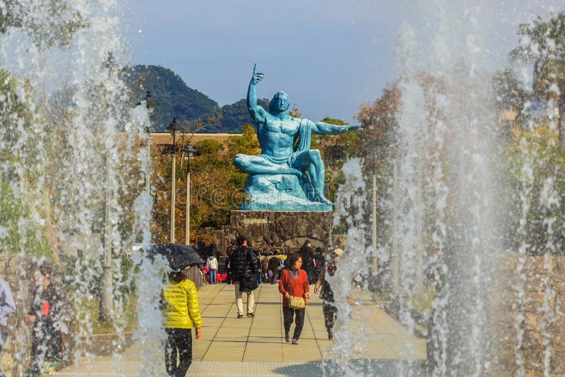 Monumento da paz de Nagasaki imagem de stock