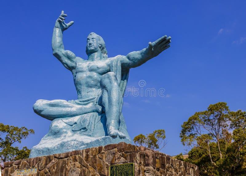 Monumento da paz de Nagasaki imagens de stock