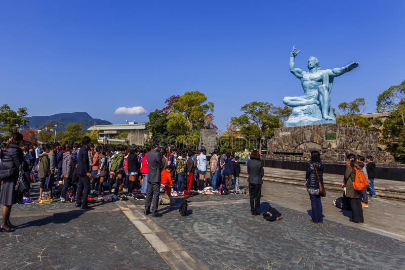 Monumento da paz de Nagasaki fotos de stock