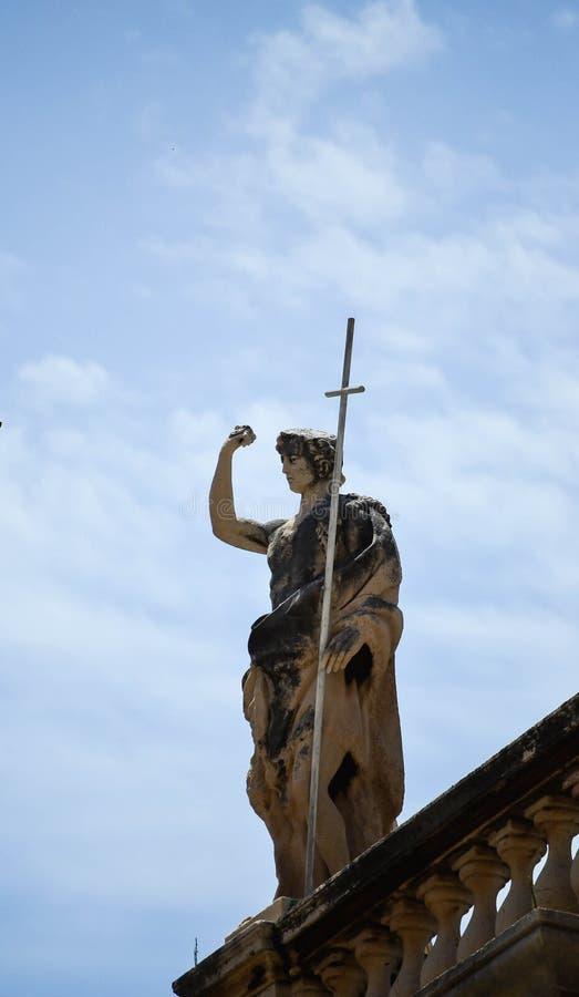 Monumento da solda da cidade velha de Dubrovnik, Croácia imagem de stock royalty free