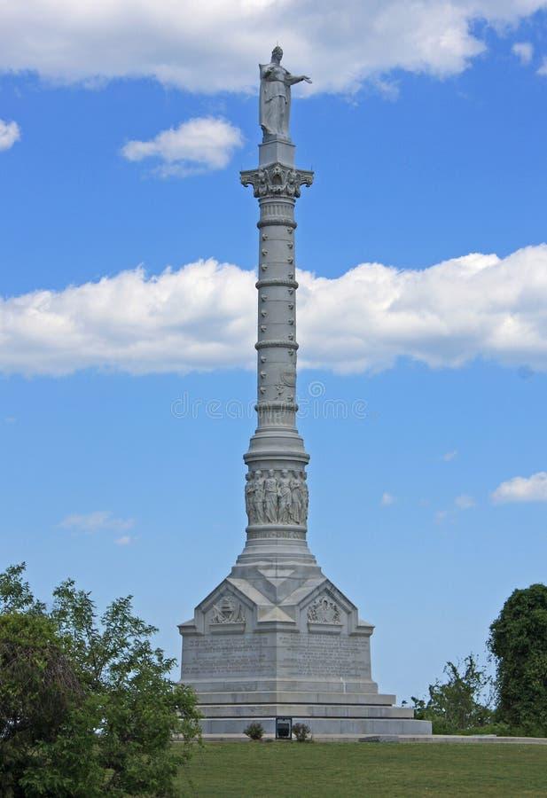 Monumento da vitória de Yorktown imagens de stock royalty free