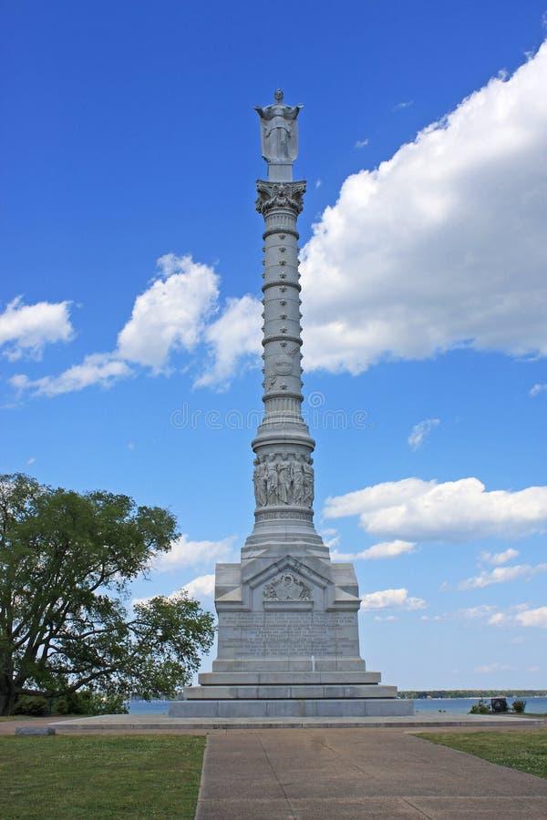 Monumento da vitória de Yorktown foto de stock royalty free