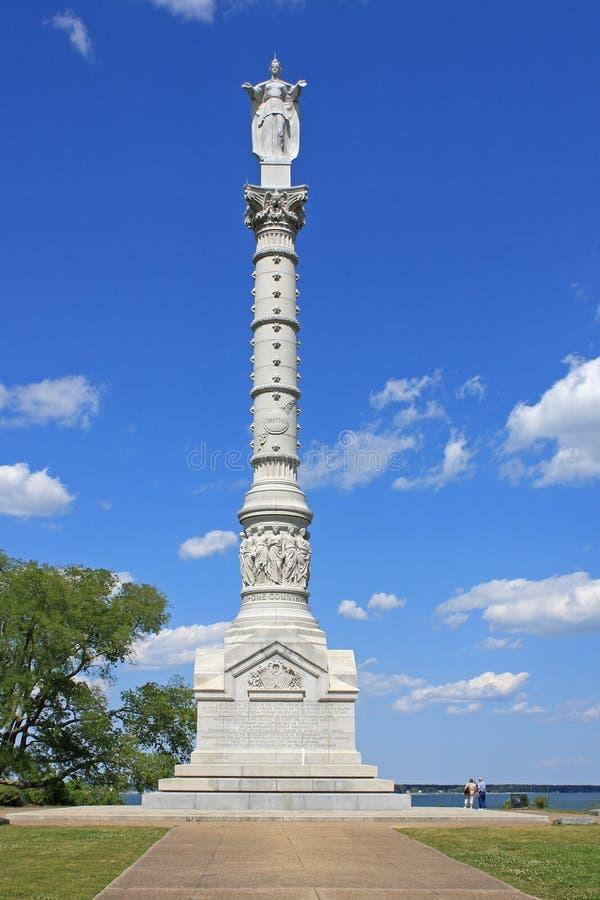 Monumento da vitória de Yorktown fotografia de stock royalty free