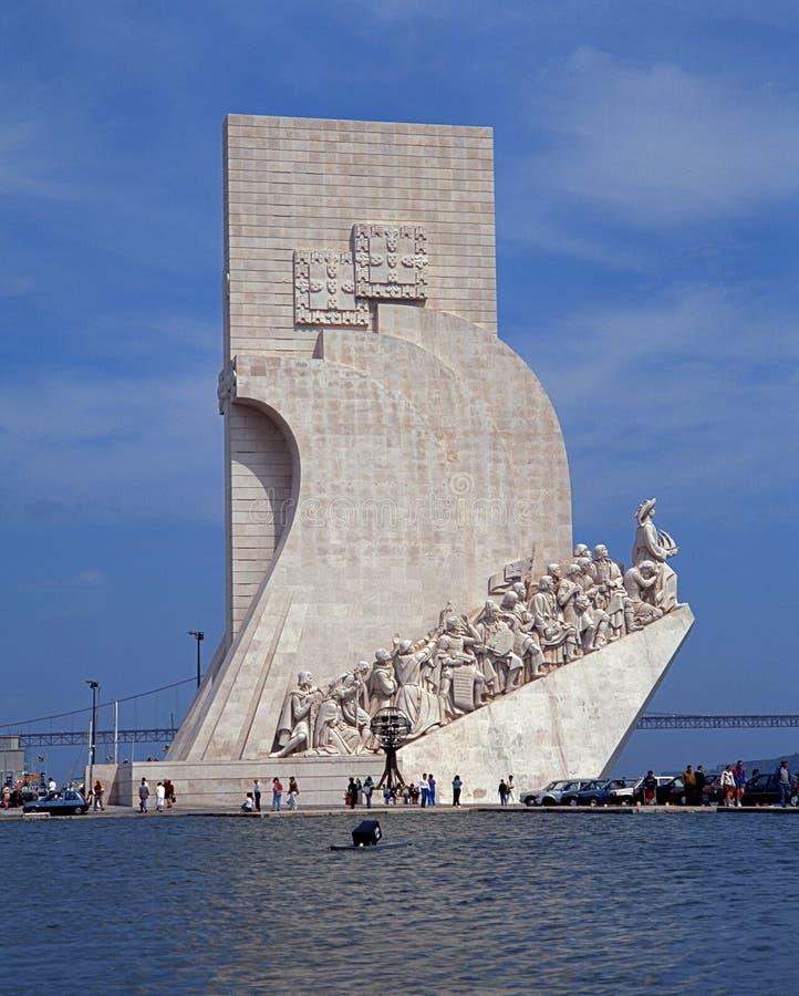 Monumento das descobertas, Lisboa imagens de stock royalty free