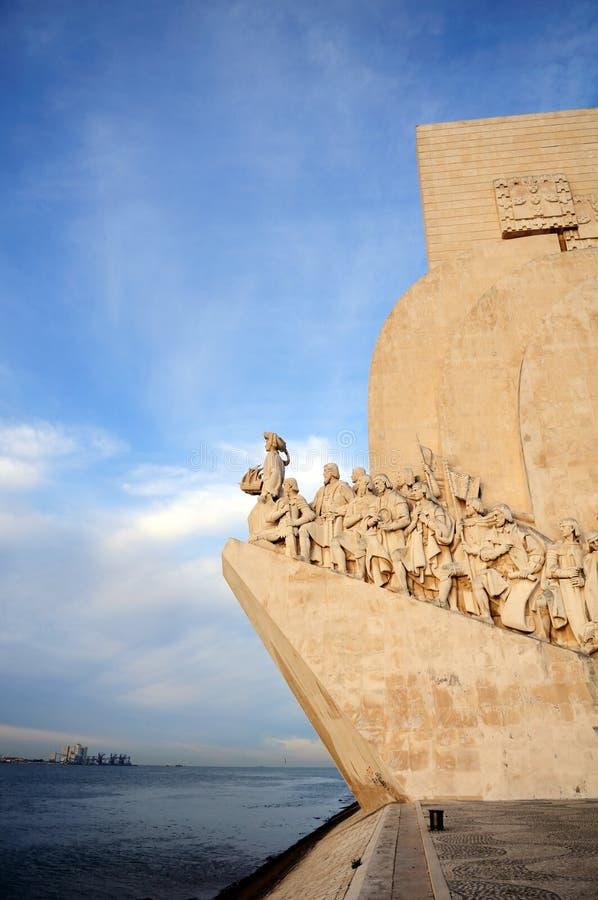 Monumento das Mar-Descobertas em Lisboa imagens de stock royalty free