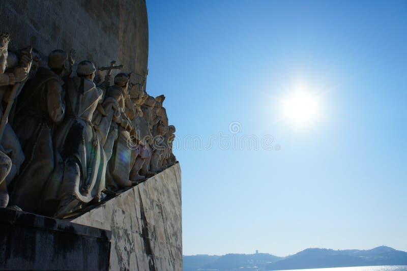 Monumento das Mar-Descobertas em Lisboa, Portugal imagens de stock