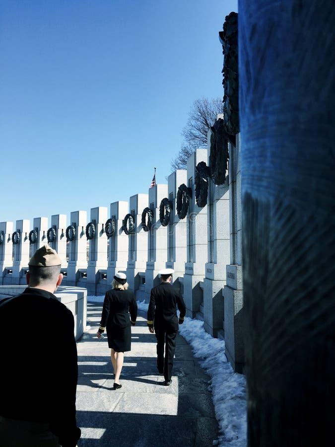 Monumento DC de WWII fotografía de archivo