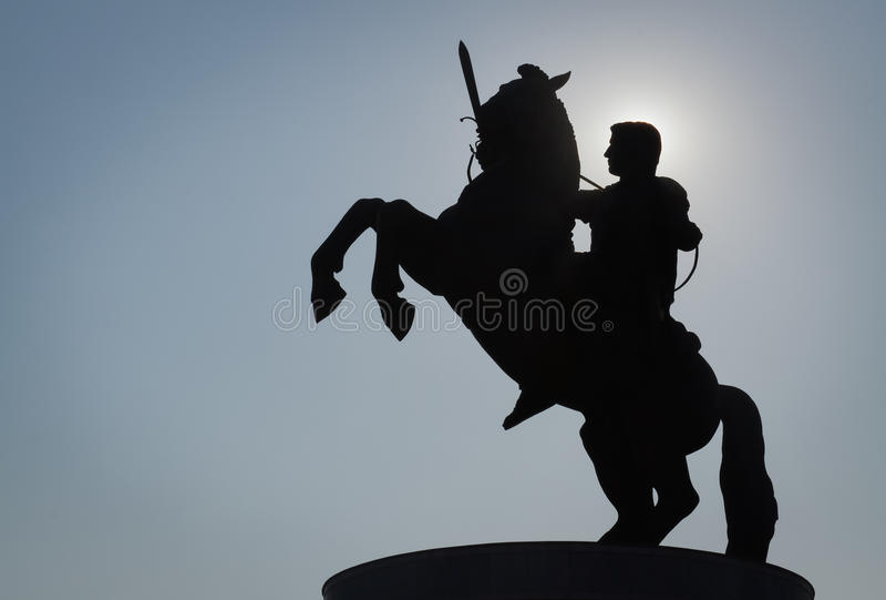 Monumento de Alexander foto de stock