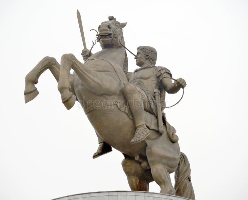 Monumento de Alexander The Great imagen de archivo libre de regalías