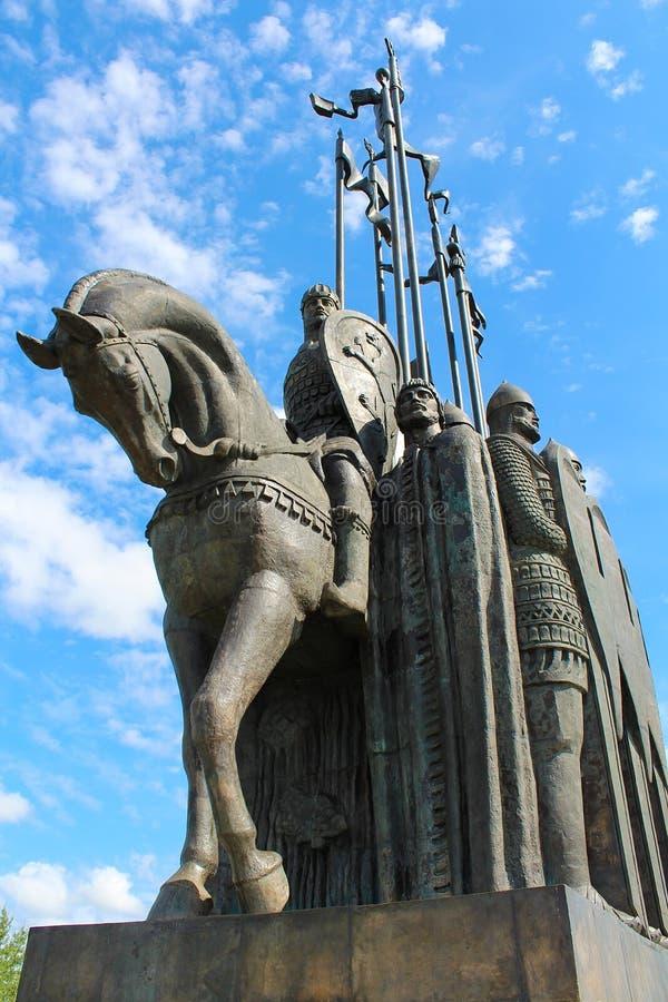 Monumento de Alexander Nevsky en Pskov, Rusia fotografía de archivo libre de regalías