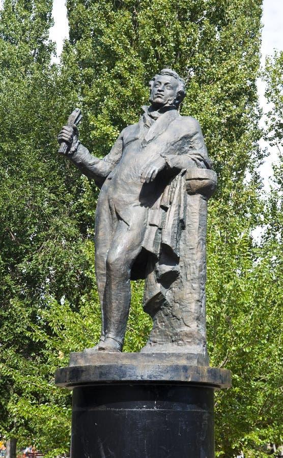 Monumento de Alexander Pushkin imagenes de archivo
