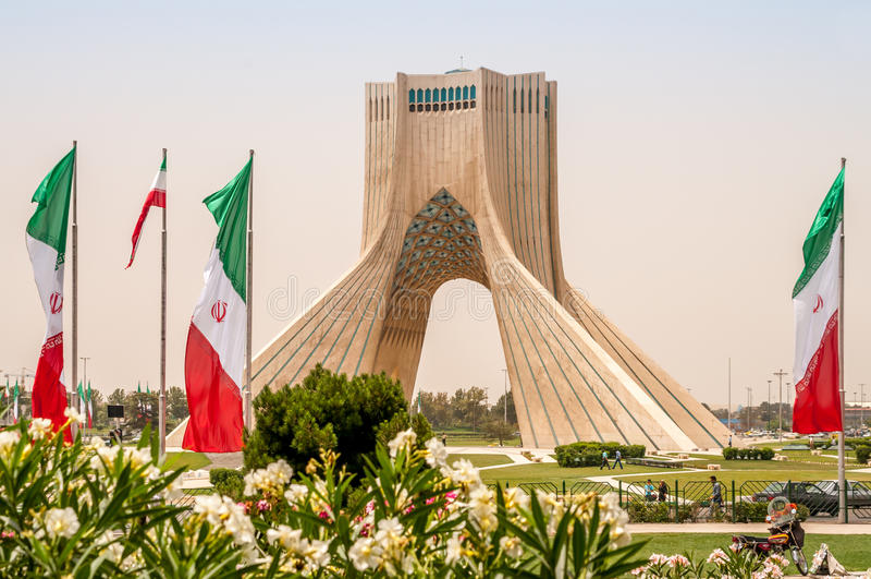 Monumento de Azadi - Tehran foto de stock