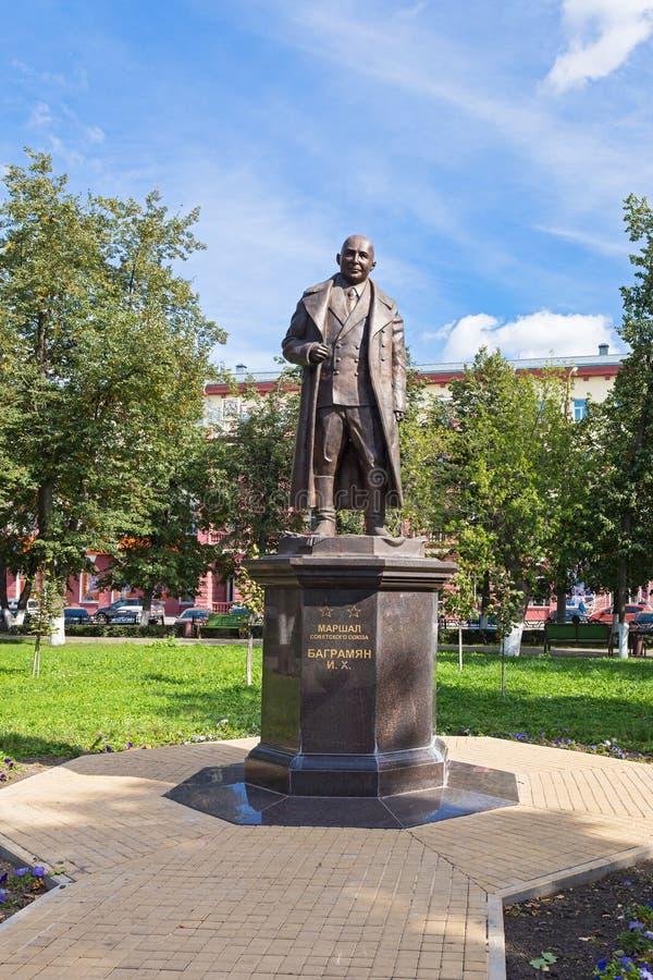 Monumento de Bagramyan en Oryol imágenes de archivo libres de regalías