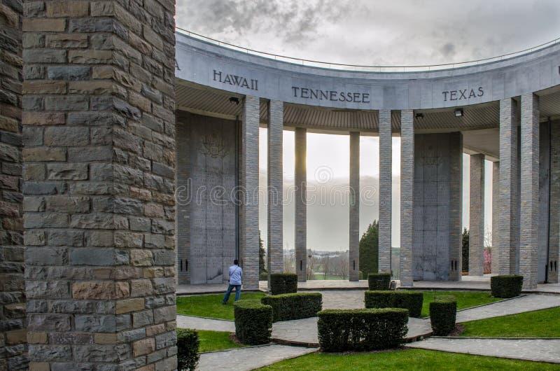 Monumento de Bastogne WWII fotografía de archivo