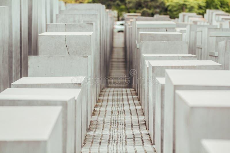 Monumento de Berlín a los judíos de Europa fotografía de archivo libre de regalías