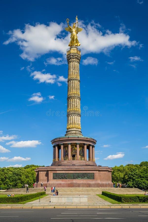 Monumento de Berlin Victory Column en el parque de Tiergarten, Berlín, imagenes de archivo