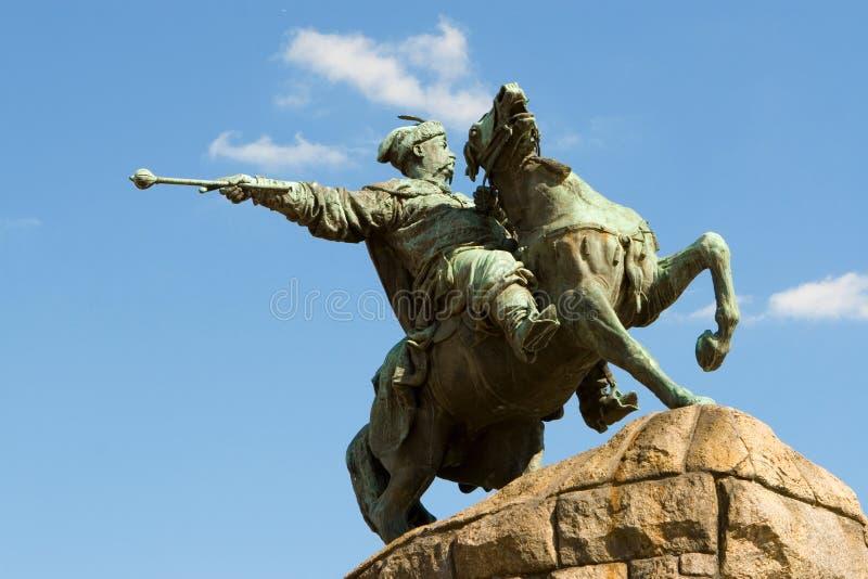 Monumento de Bogdan Khmelnitsky, Ucrania imagen de archivo