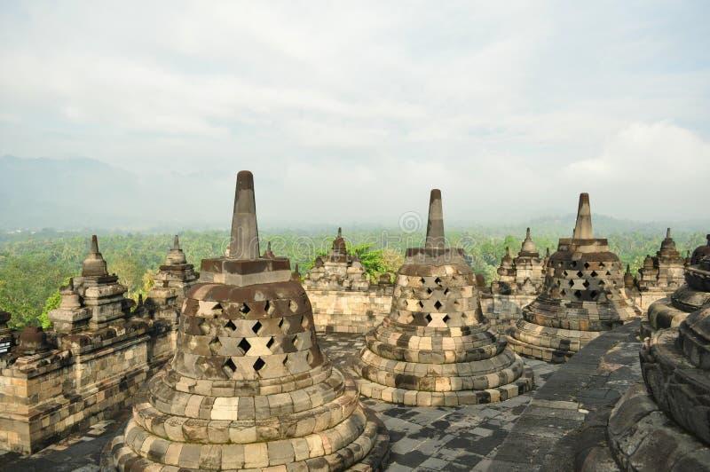 Monumento de Borobudur imagem de stock royalty free