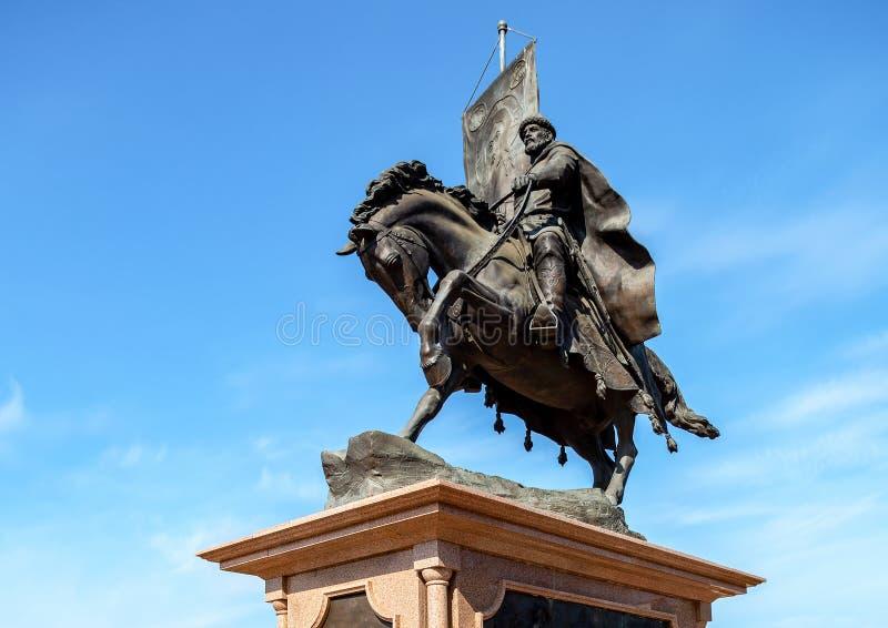 Monumento de bronce al fundador del Samara - príncipe Grigory Zaseki foto de archivo libre de regalías