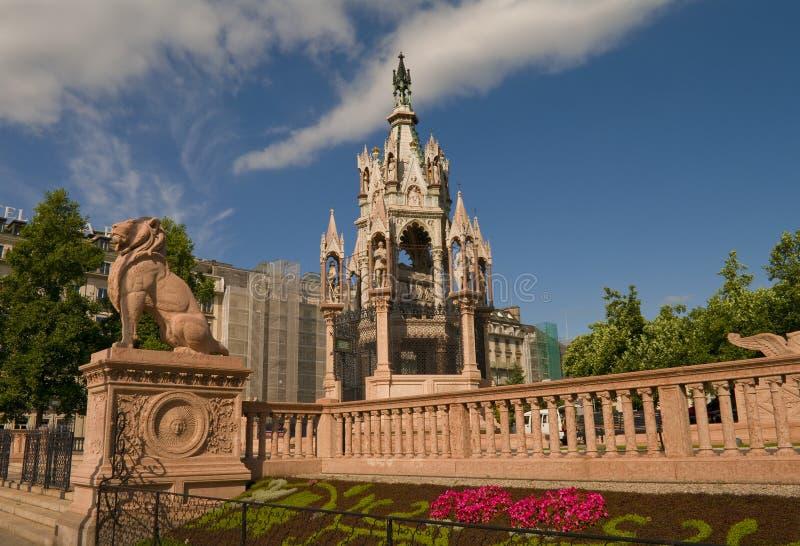 Monumento de Brunsvique em Genebra, Switzerland, 2012 imagens de stock royalty free