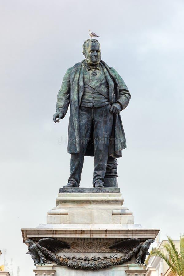 Monumento de Camillo Benso di Cavour fotos de stock royalty free