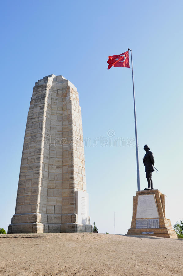 Monumento de Canak Bayiri perto de Anzac Cove em Gallipoli, Turquia fotos de stock