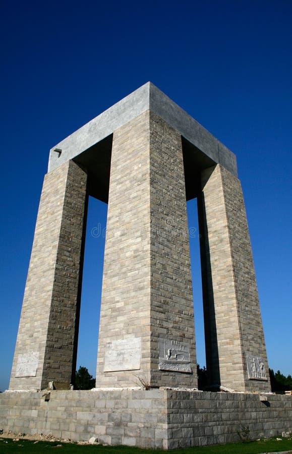 Monumento de Canakkale imagen de archivo