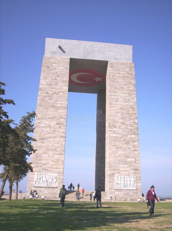 Monumento de Canakkale. Mártires imagen de archivo libre de regalías