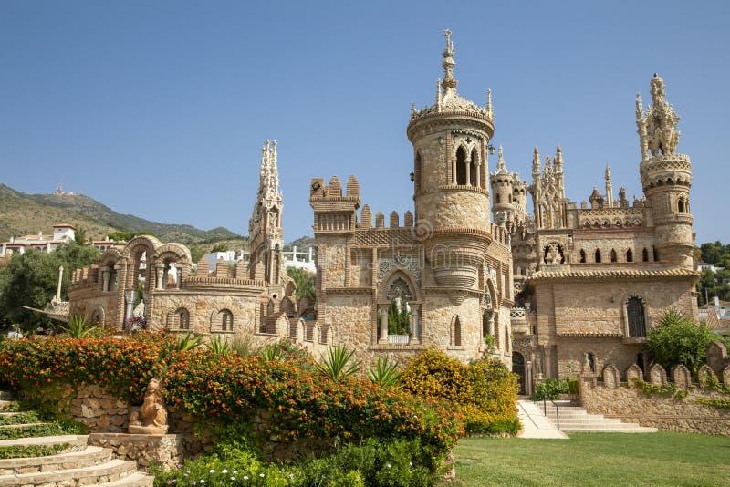 Monumento de Castillo de Colomares na Espanha imagem de stock
