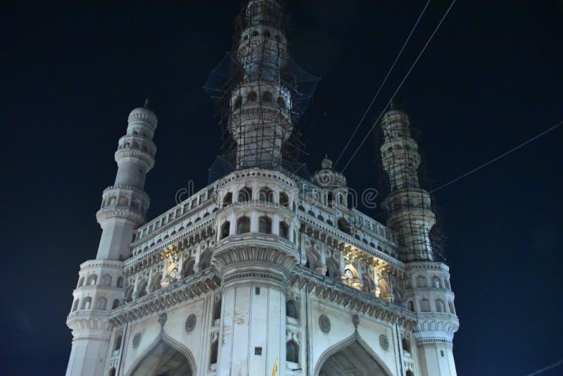 Monumento de Charminar, Hyderabad, Telangana, la India fotografía de archivo