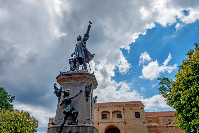 Monumento de Christopher Columbus imagen de archivo libre de regalías