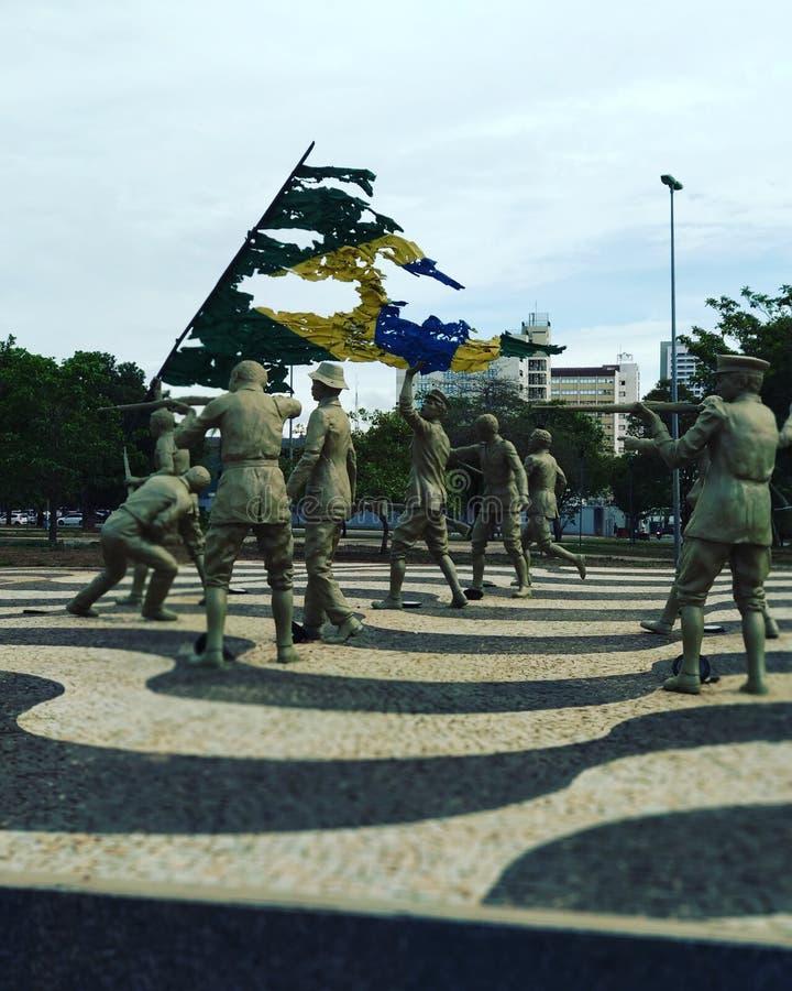 Monumento de Coluna Prestes imagenes de archivo