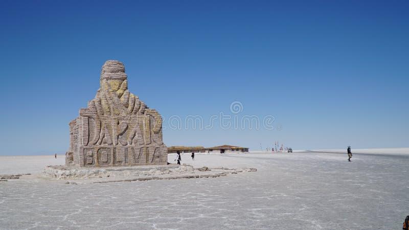 Monumento de Dakar en Uyuni, Bolivia, Suramérica foto de archivo