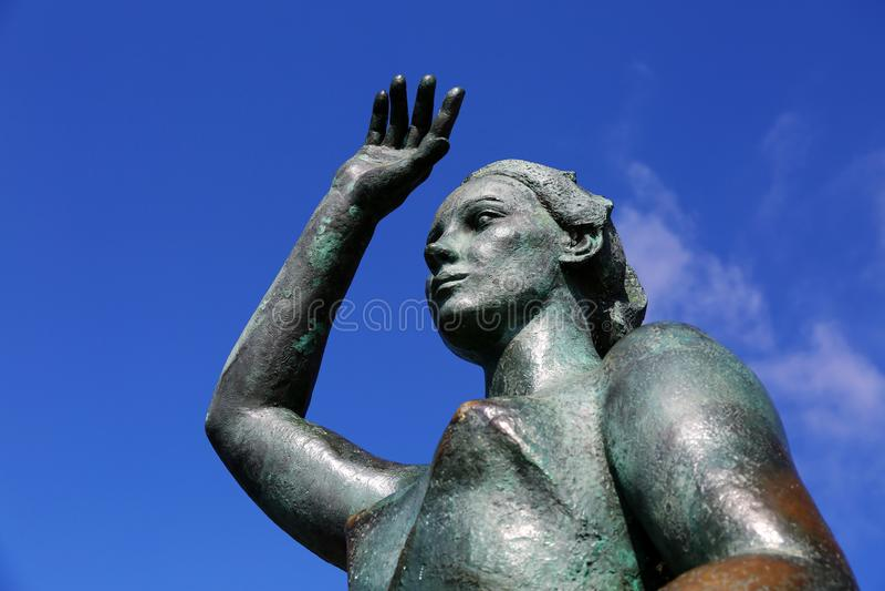 Monumento de Dona Marinera fotografia de stock