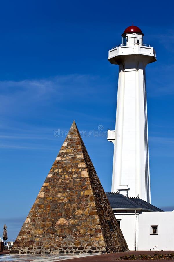 Monumento de Donkin en Port Elizabeth, Suráfrica. foto de archivo