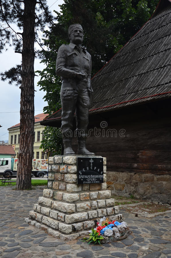 Monumento de Draza Mihajlovic - Ivanjica imagem de stock