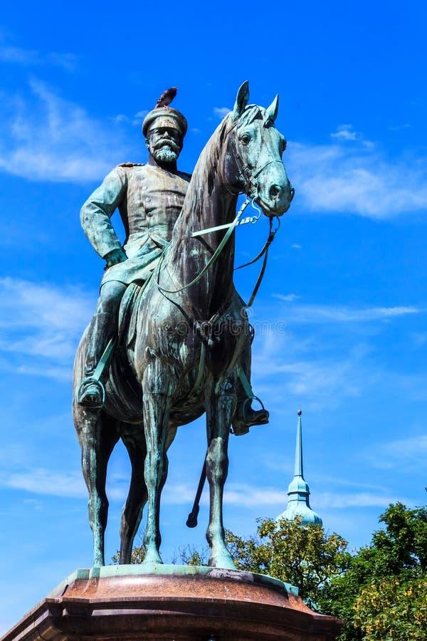 Monumento de Duke Ludwig magnífico de Hesse en Darmstad, Alemania fotografía de archivo libre de regalías