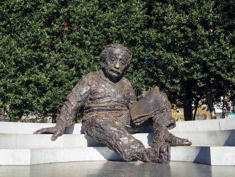 Monumento de Einstein, Washington DC imagen de archivo