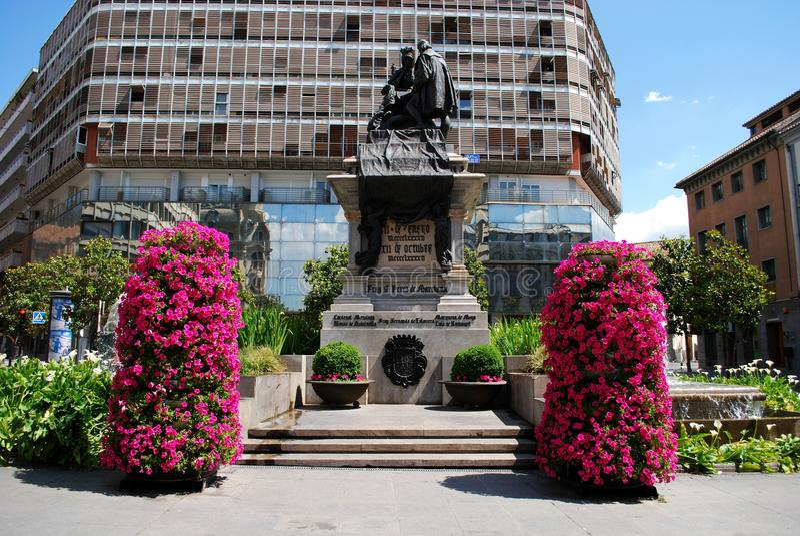 Monumento de Ferdinand e de Isabella, Granada fotografia de stock royalty free