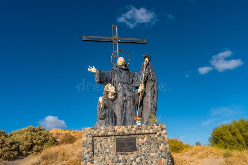 Monumento de Francisco de Paola em Puerto Madryn, Argentina, Pata fotografia de stock royalty free
